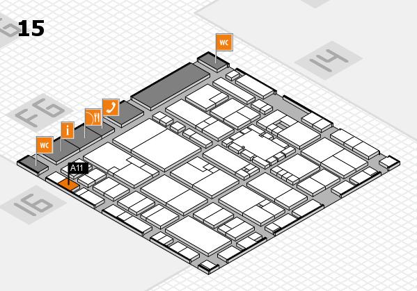 EuroShop 2017 hall map (Hall 15): stand A11