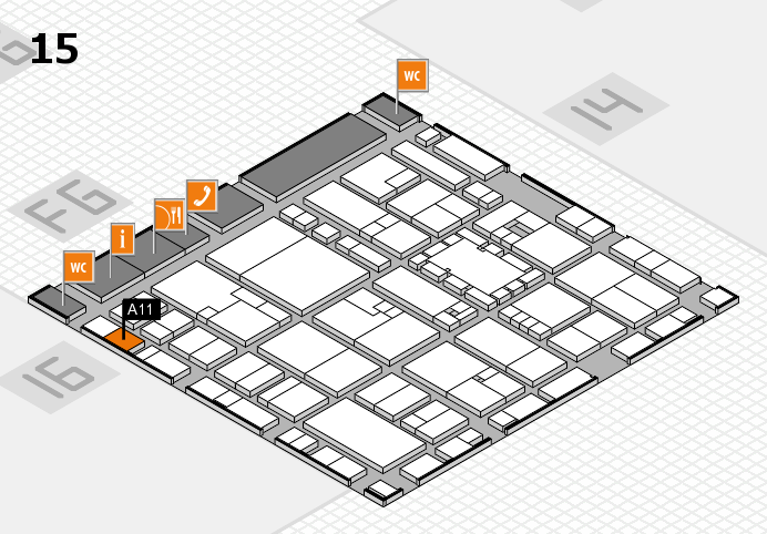 EuroShop 2017 hall map (Hall 15): stand A11
