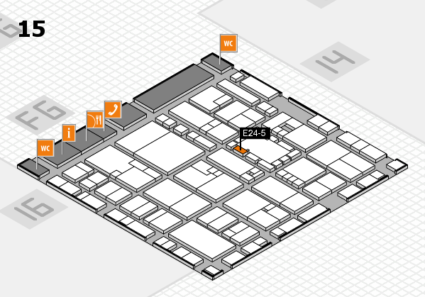 EuroShop 2017 hall map (Hall 15): stand E24-5