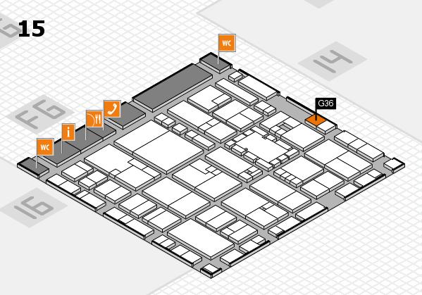 EuroShop 2017 hall map (Hall 15): stand G36