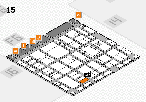 EuroShop 2017 hall map (Hall 15): stand C55