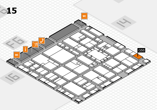 EuroShop 2017 hall map (Hall 15): stand G56