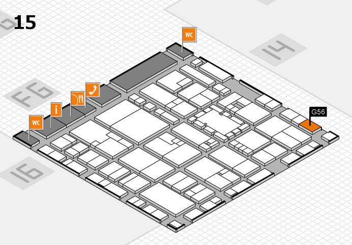 EuroShop 2017 hall map (Hall 15): stand G56
