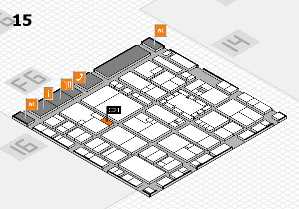 EuroShop 2017 hall map (Hall 15): stand C21