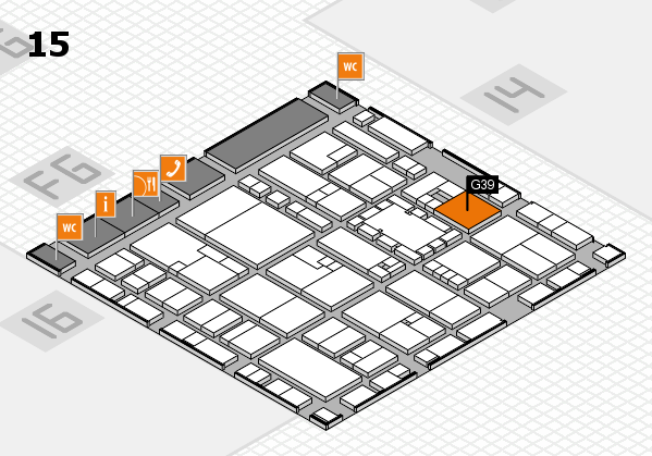 EuroShop 2017 hall map (Hall 15): stand G39