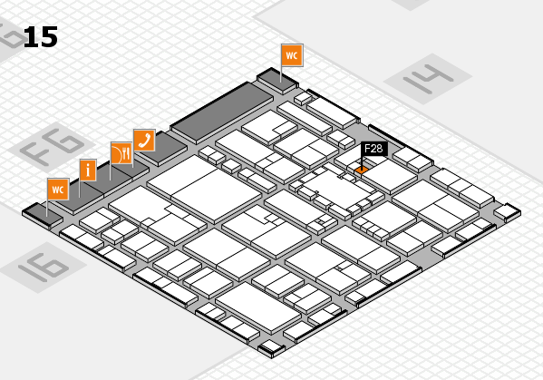 EuroShop 2017 hall map (Hall 15): stand F28
