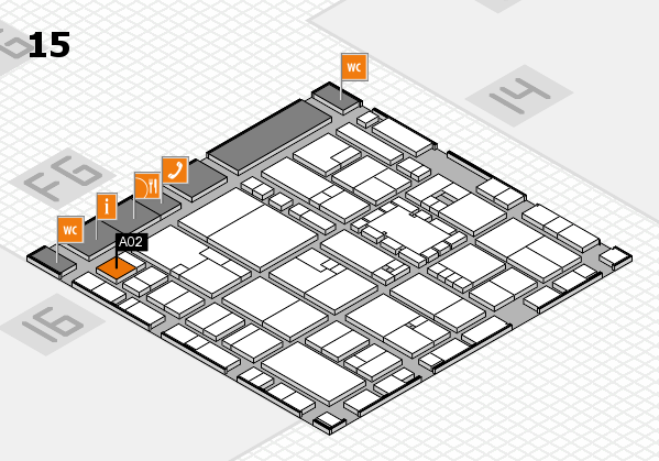 EuroShop 2017 hall map (Hall 15): stand A02