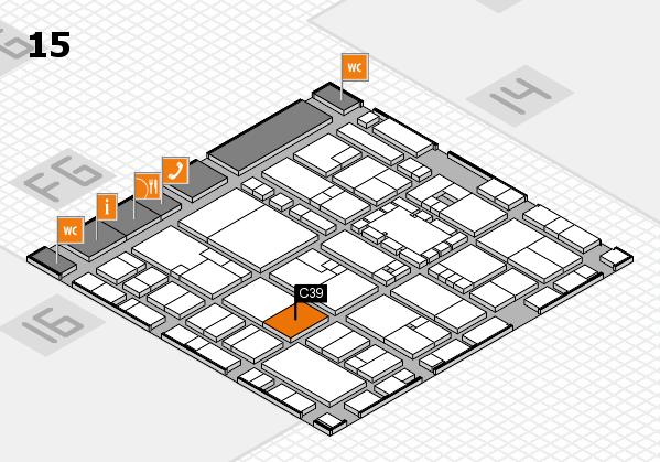 EuroShop 2017 hall map (Hall 15): stand C39