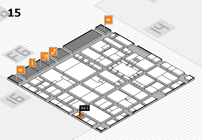 EuroShop 2017 hall map (Hall 15): stand A43