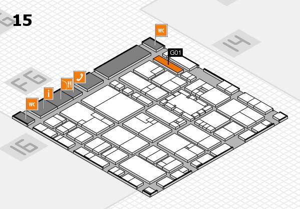 EuroShop 2017 hall map (Hall 15): stand G01