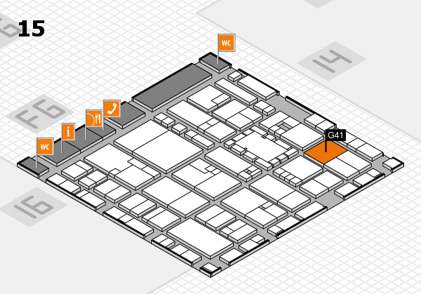 EuroShop 2017 hall map (Hall 15): stand G41