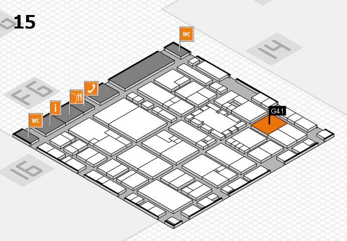 EuroShop 2017 hall map (Hall 15): stand G41