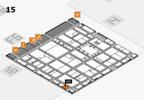 EuroShop 2017 hall map (Hall 15): stand A55