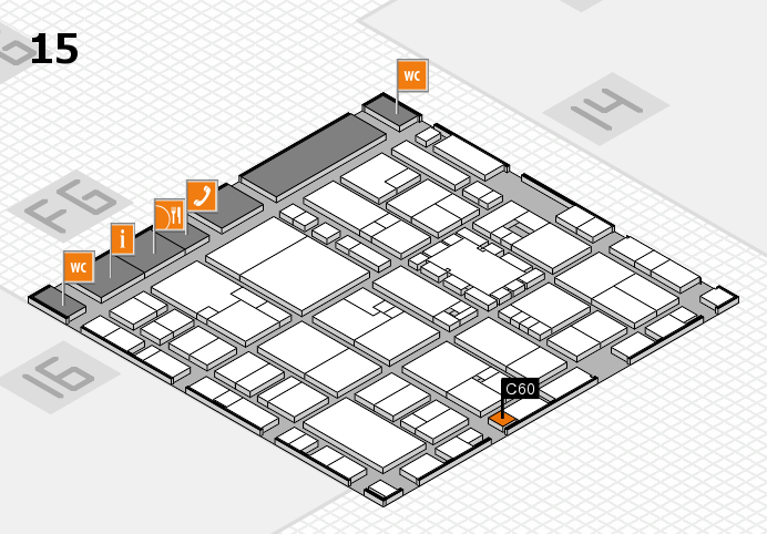 EuroShop 2017 hall map (Hall 15): stand C60