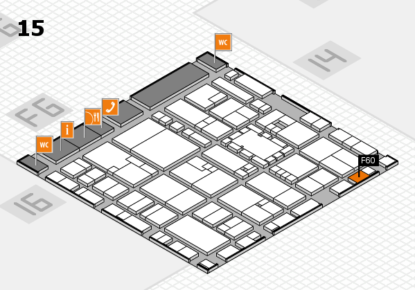 EuroShop 2017 hall map (Hall 15): stand F60