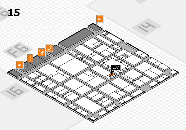 EuroShop 2017 hall map (Hall 15): stand E37