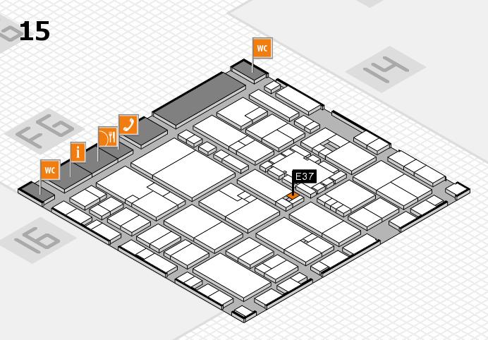 EuroShop 2017 hall map (Hall 15): stand E37