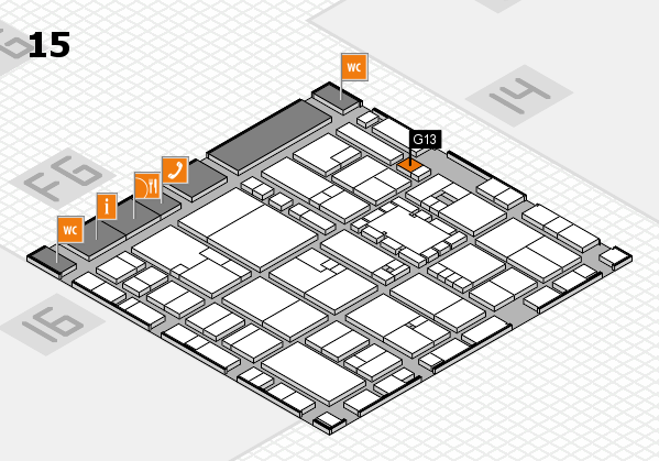 EuroShop 2017 hall map (Hall 15): stand G13
