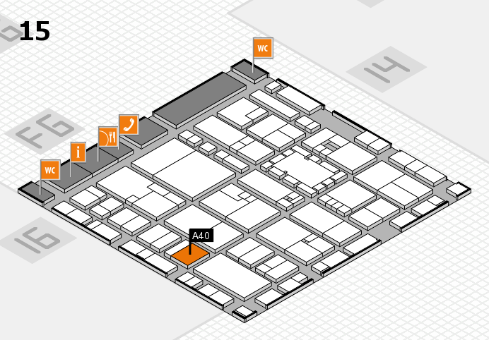 EuroShop 2017 hall map (Hall 15): stand A40