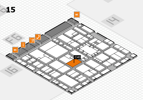 EuroShop 2017 hall map (Hall 15): stand C40