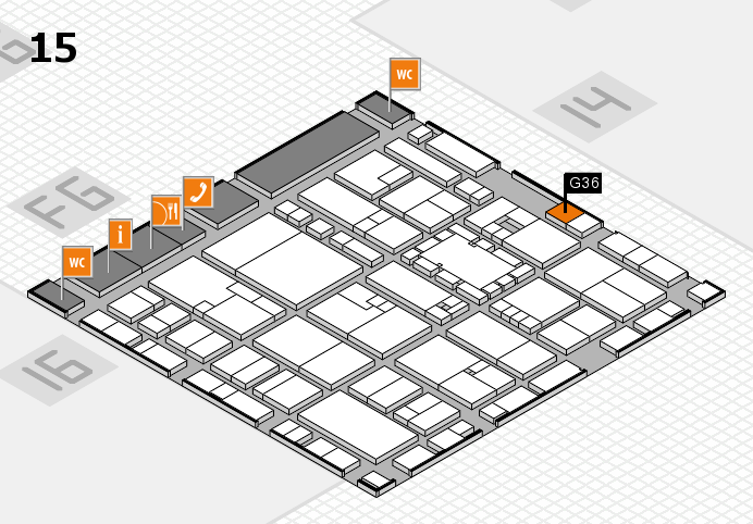 EuroShop 2017 hall map (Hall 15): stand G36