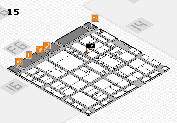 EuroShop 2017 hall map (Hall 15): stand E12
