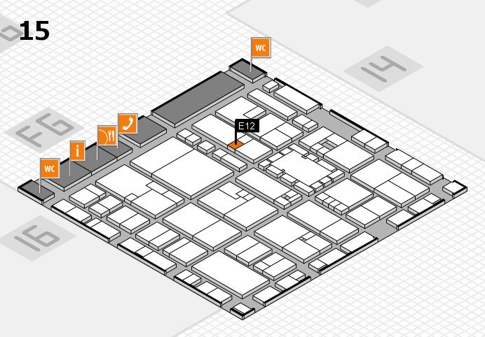 EuroShop 2017 hall map (Hall 15): stand E12