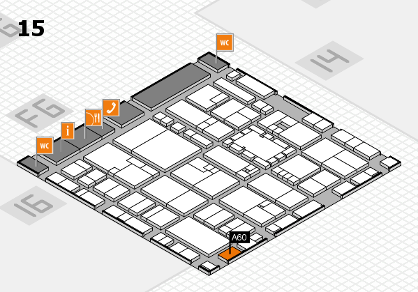 EuroShop 2017 hall map (Hall 15): stand A60