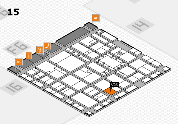 EuroShop 2017 hall map (Hall 15): stand C56