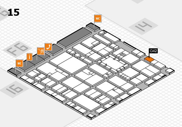 EuroShop 2017 hall map (Hall 15): stand G42