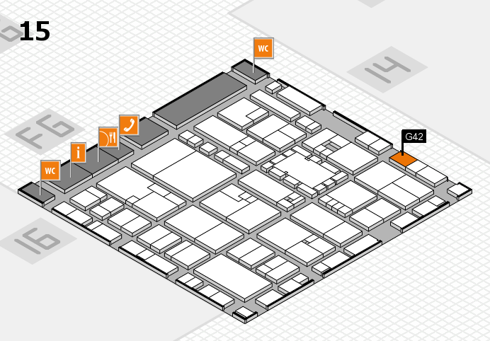EuroShop 2017 hall map (Hall 15): stand G42