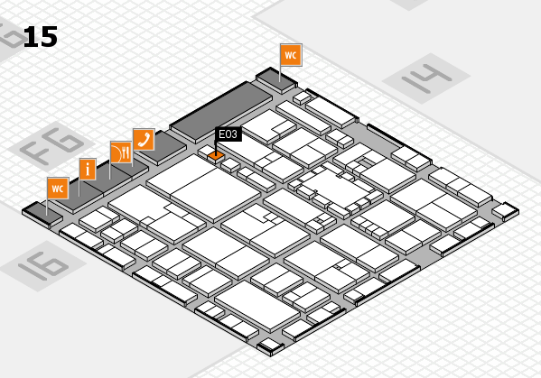 EuroShop 2017 hall map (Hall 15): stand E03