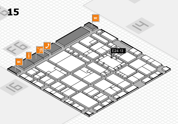 EuroShop 2017 hall map (Hall 15): stand E24-13