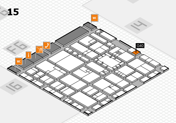 EuroShop 2017 hall map (Hall 15): stand G40
