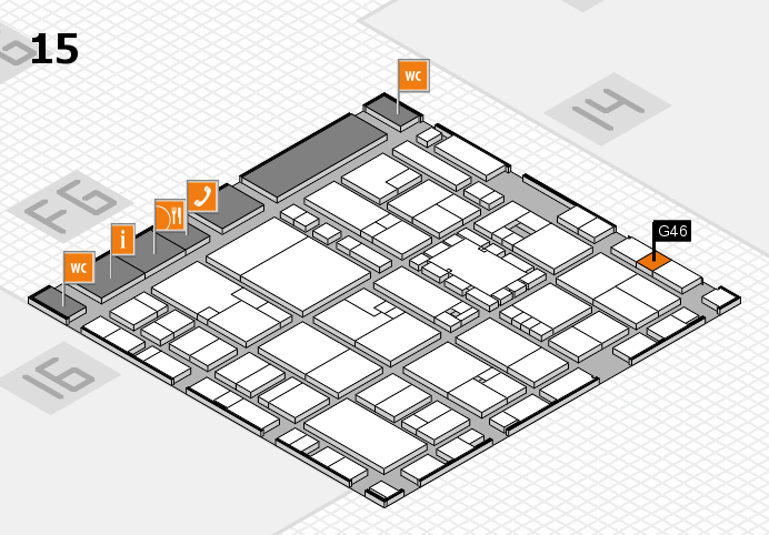 EuroShop 2017 hall map (Hall 15): stand G46