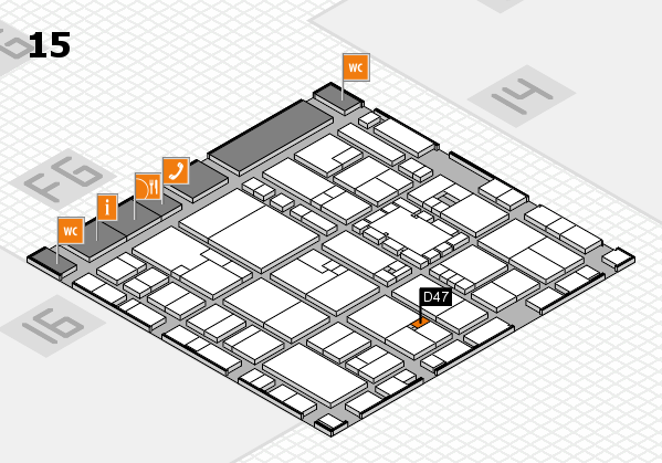 EuroShop 2017 hall map (Hall 15): stand D47