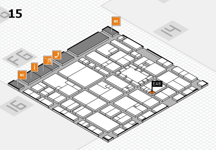 EuroShop 2017 hall map (Hall 15): stand E48