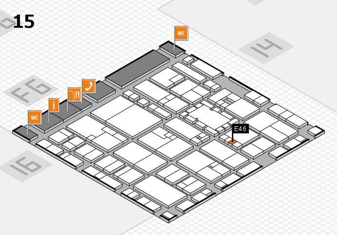 EuroShop 2017 hall map (Hall 15): stand E46