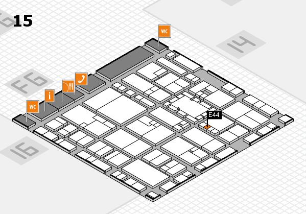 EuroShop 2017 hall map (Hall 15): stand E44