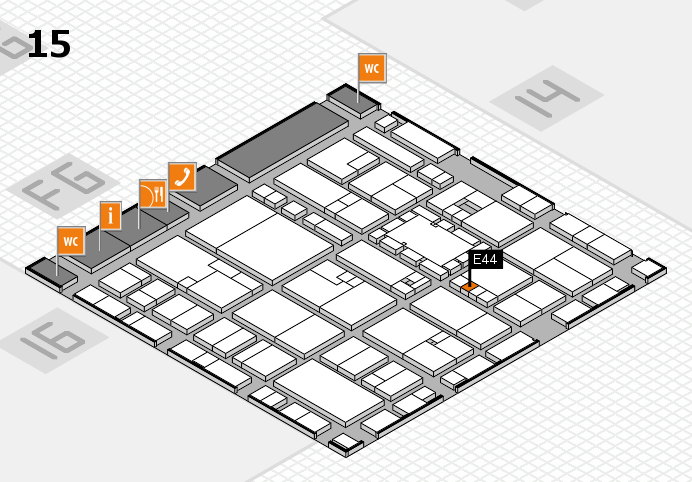 EuroShop 2017 hall map (Hall 15): stand E44
