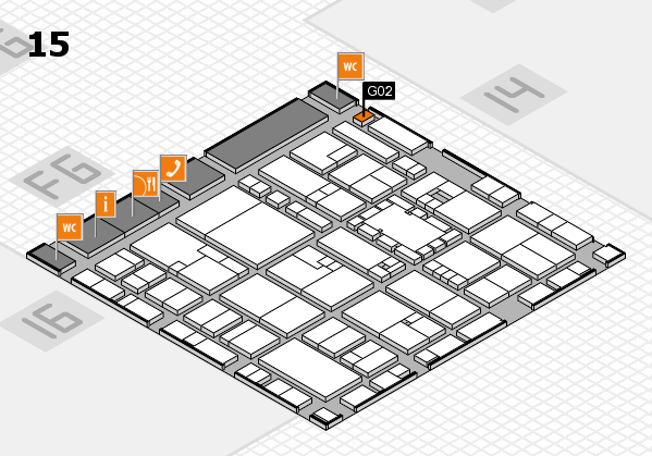 EuroShop 2017 hall map (Hall 15): stand G02