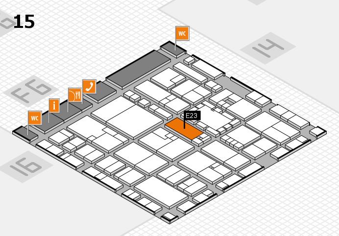 EuroShop 2017 hall map (Hall 15): stand E23