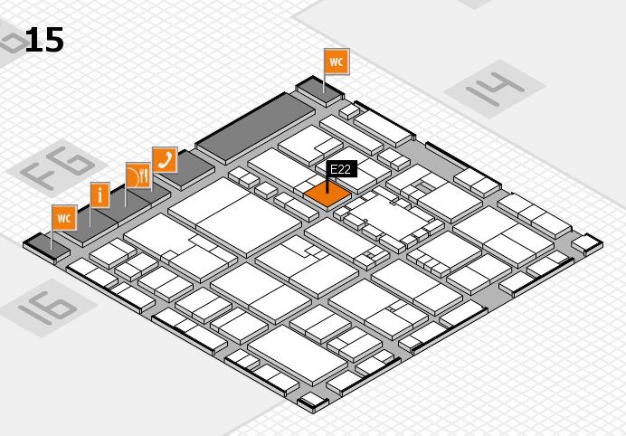 EuroShop 2017 hall map (Hall 15): stand E22