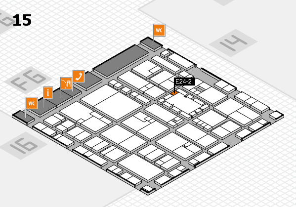 EuroShop 2017 hall map (Hall 15): stand E24-2