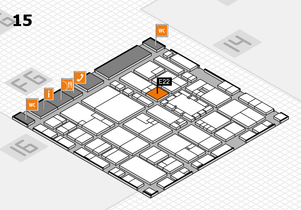 EuroShop 2017 hall map (Hall 15): stand E22