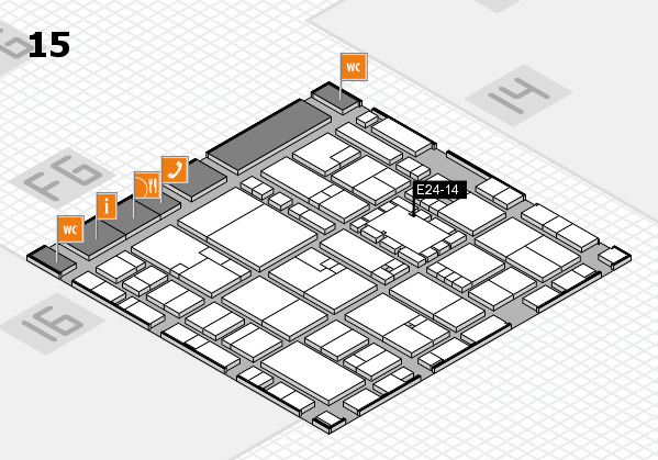 EuroShop 2017 hall map (Hall 15): stand E24-14