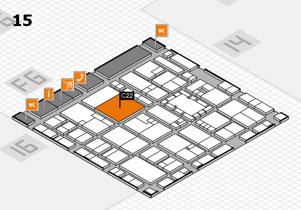 EuroShop 2017 hall map (Hall 15): stand C22