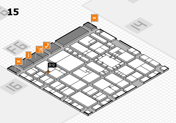 EuroShop 2017 hall map (Hall 15): stand B12
