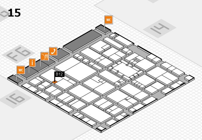EuroShop 2017 hall map (Hall 15): stand B12