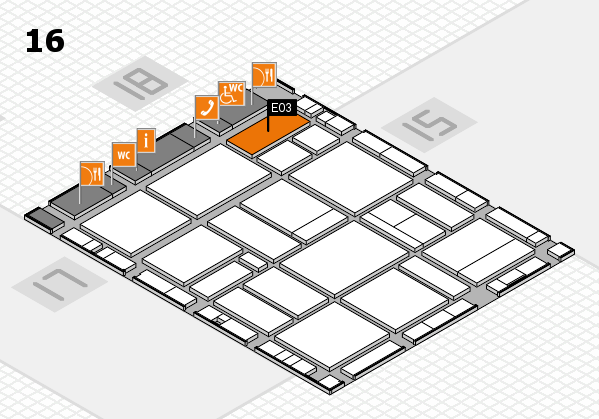 EuroShop 2017 hall map (Hall 16): stand E03